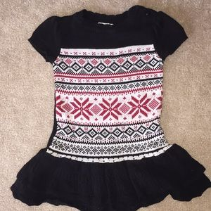 black sweater dress size S 5/6